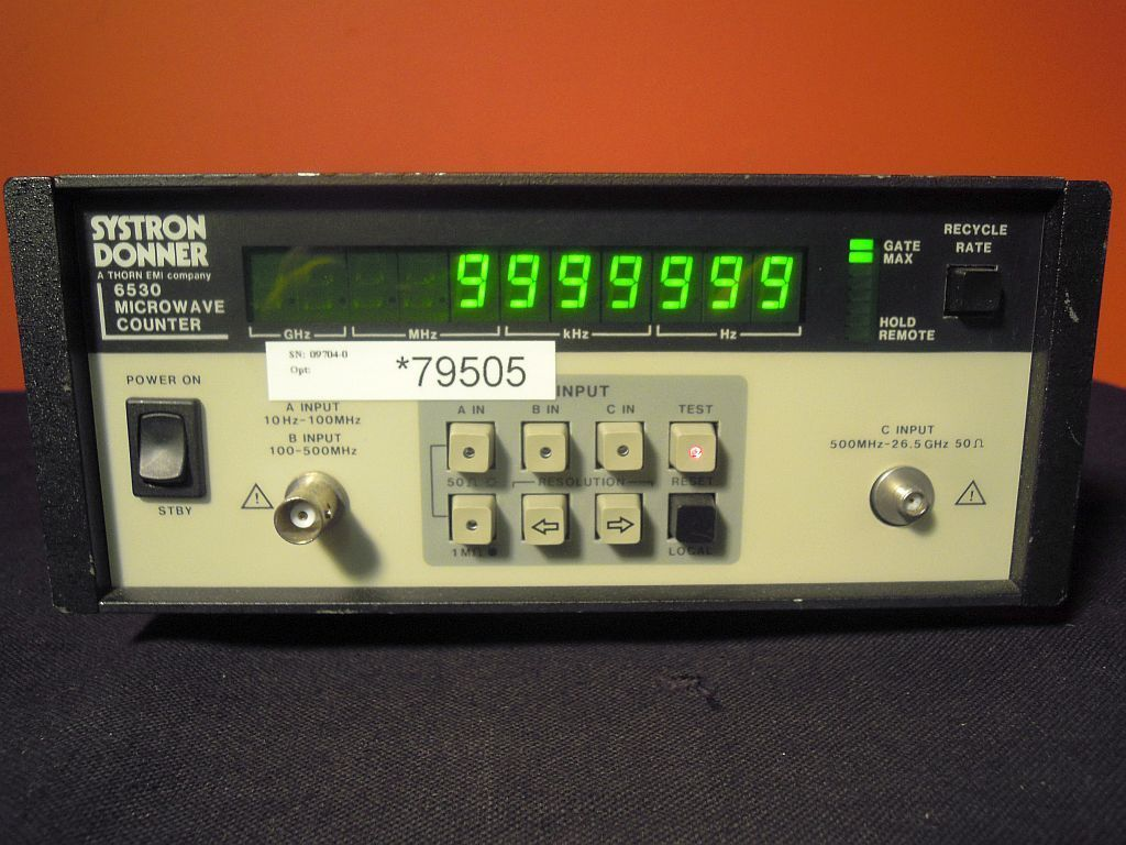 SYSTRON DONNER 6530 COUNTER, MICROW.